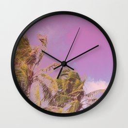 Swaying Palm Trees Wall Clock