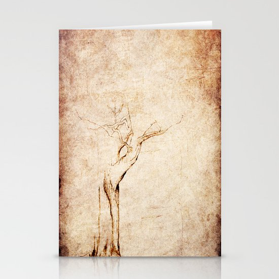 Drawn Tree iPhone Case Stationery Cards