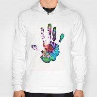hippie Hoodies featuring Hippie Hand by Alyssa Barclay