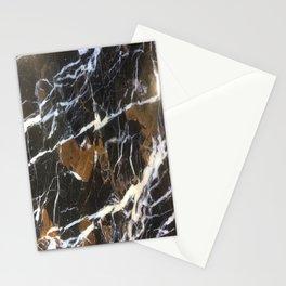 Stylish Polished Black Marble Stationery Cards