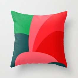 Colors III – Contemporary Abstract Maximalism Illustration Throw Pillow
