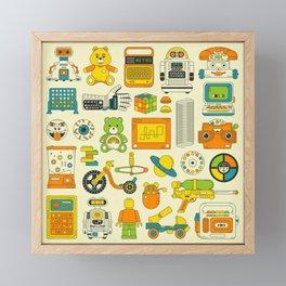 RETRO TOYS Framed Mini Art Print