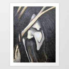 Dark face Art Print