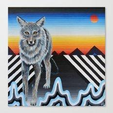 Geometric Coyote Canvas Print
