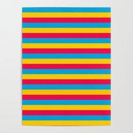Mongolia flag stripes Poster