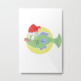 Christmas Cod #1 Metal Print