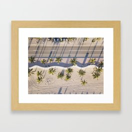 Fort Lauderdale beach from aerial point of view Framed Art Print