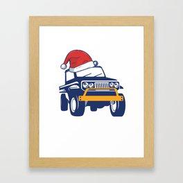 Christmas Jeep Framed Art Print