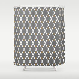 Gray Pattern No. 2 Shower Curtain
