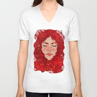 lolita V-neck T-shirts featuring Lolita  by Nicolae Negura