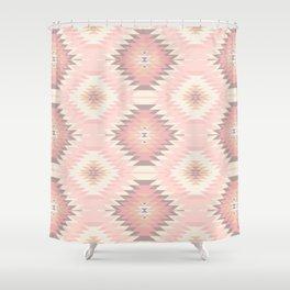 Pastel Pink & Coral Navajo Shower Curtain