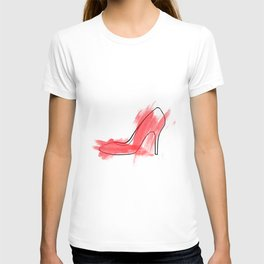 Red shoe T-shirt