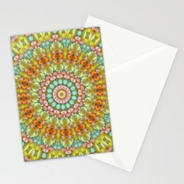 Pastel Jellybean Mandala Stationery Cards