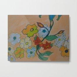 Flowery Chain Metal Print