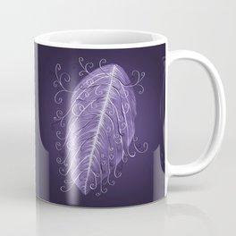 Violet Swirly Leaf Coffee Mug