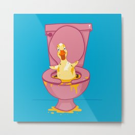 Toilet Duckling Metal Print