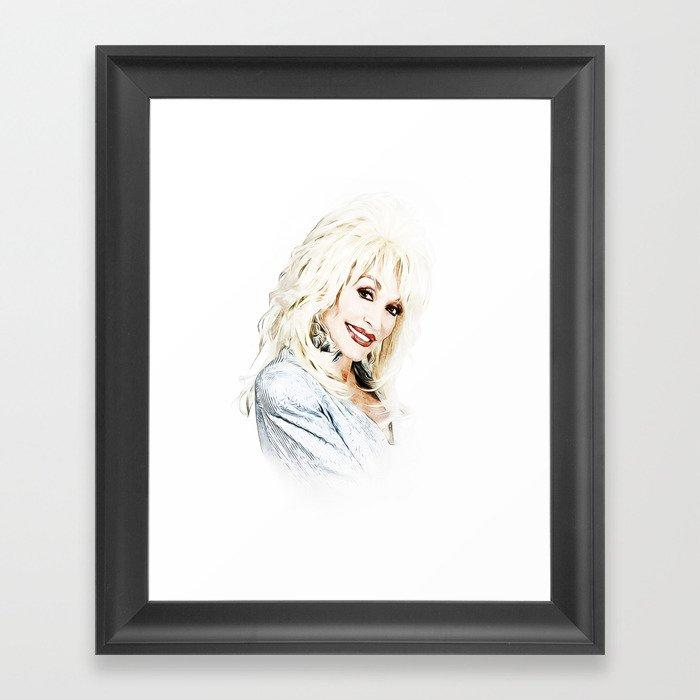 Dolly Parton - Pop Art Gerahmter Kunstdruck