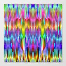 Colorful digital art splashing G488 Canvas Print