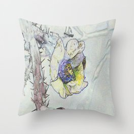 Cacti Flower Drawing Throw Pillow