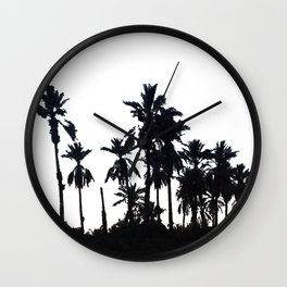 Date Palm Trees 3 Wall Clock