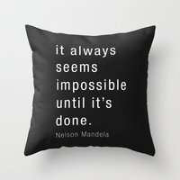 mandela Throw Pillows featuring Nelson Mandela by Mardo Grafix Studio