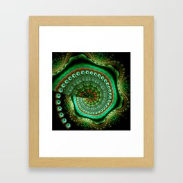 Pretty eyes, swirling pattern abstract Framed Art Print