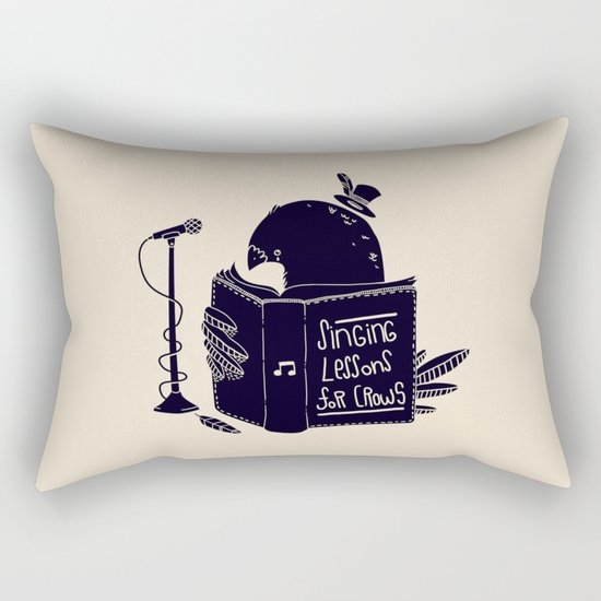 Singing Lessons For Crows Rectangular Pillow