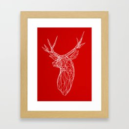 3D Stag Trophey Head Wire Frame Framed Art Print