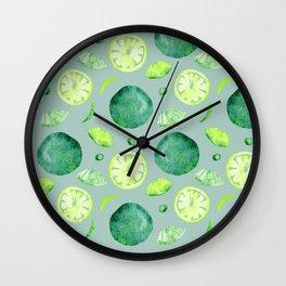 lime seamless pattern Wall Clock