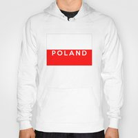 poland Hoodies featuring Poland country flag name text by tony tudor