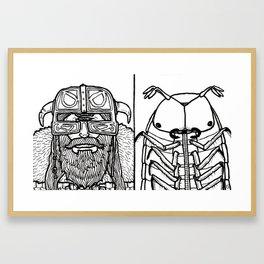 B&W Weirdos 52 Framed Art Print