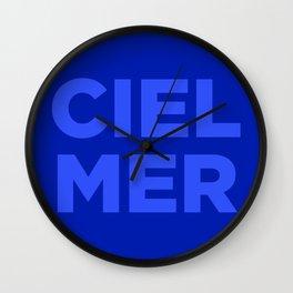 Ciel, Mer (Bleu) Wall Clock