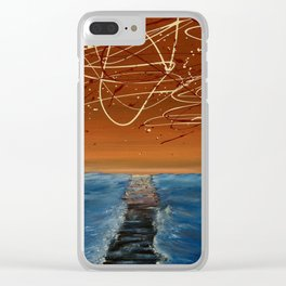 Death Of A Boardwalk Clear iPhone Case