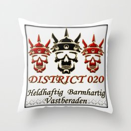 District020 warriors Throw Pillow