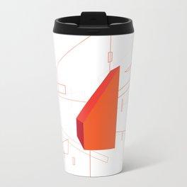 Blueprint #2 (red) Metal Travel Mug