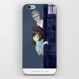 The Doctor and Clara iPhone Skin