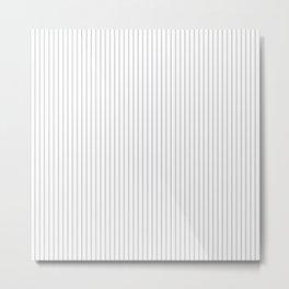 Gray ticking stripes Metal Print