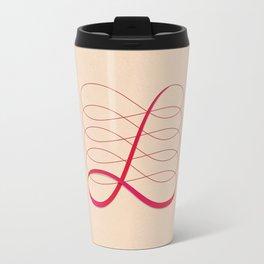 """""""L"""" Drop Cap Travel Mug"""