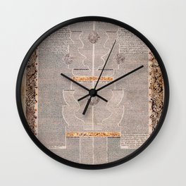 Aaron Wolf Herlingen - The Five Scrolls Ruth, Song of Songs, Ecclesiastes, Esther, and Lamentations Wall Clock