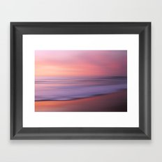 Soft Blushing Sky Framed Art Print