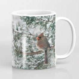 Snowy Branch Cardinals Coffee Mug