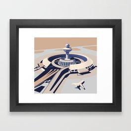 Soviet Modernism: Zvartnots airport, Armenia Framed Art Print