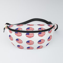 Flag of Usa in a polka dot. Fanny Pack