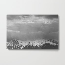 Mountain Landscape in the Rain Metal Print
