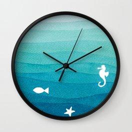 Desert island Wall Clock