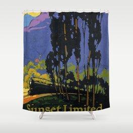 Vintage poster - Sunset Limited Shower Curtain