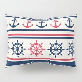 Blue Pink Sea Navy Pattern Pillow Sham
