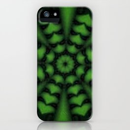 green hearted arrow iPhone Case