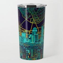 louisville skyline abstract Travel Mug