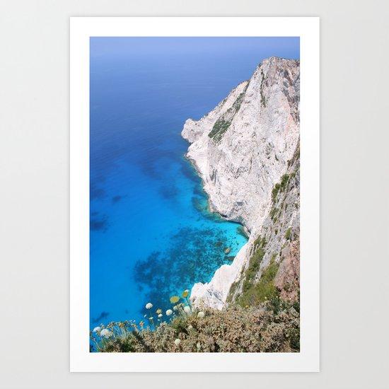Kampi Cliffs Art Print